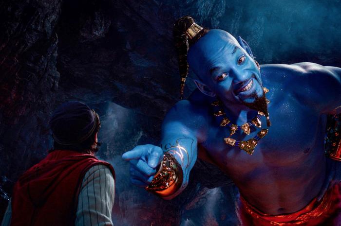 Will Smith, yang berperan sebagai Genie dalam film Aladdin.