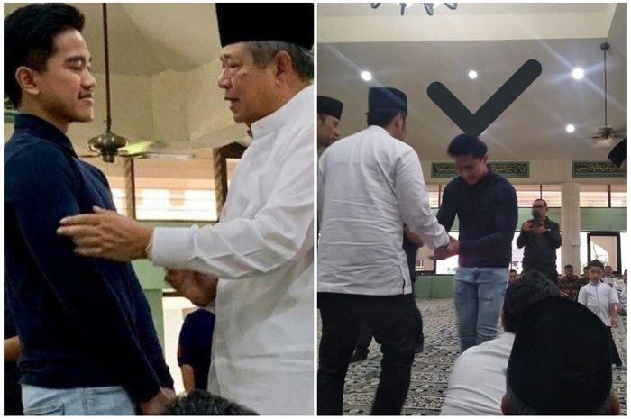 Kaesang Pangarep melayatn Ani Yudhoyono