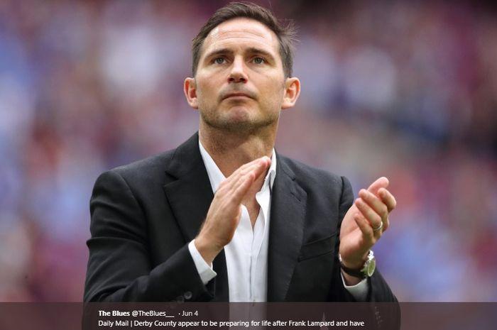 Mantan pemain Chelsea yang kini menjabat pelatih Derby County, Frank Lampard