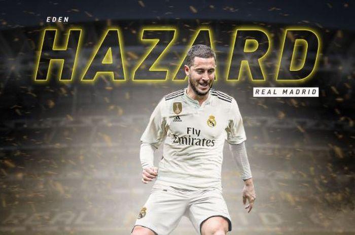 Real Madrid menyambut kedatangan Eden Hazard sebagai pemain baru melalui situs resmi klub, Jumat (7/6/2019) waktu setempat atau Sabtu dini hari WIB.