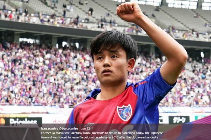 Lionel Messi dari Jepang, Takefusa Kubo, yang kini membela Real Madrid, pernah belajar di akademi Barcelona.