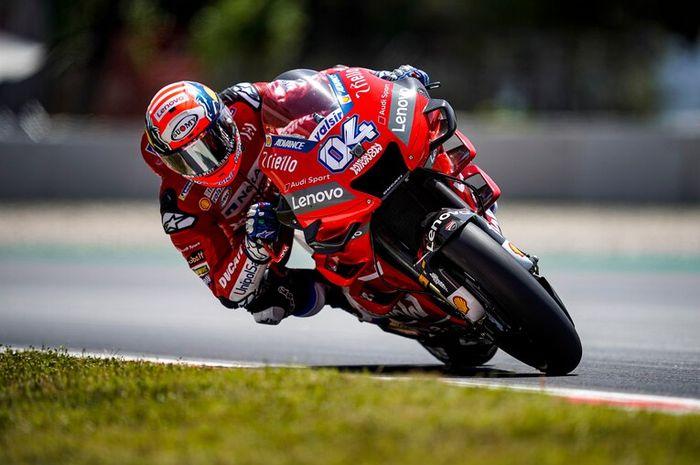 Andrea Dovizioso (Mission Winnow Ducati) kala tampil pada sesi latihan bebas MotoGP Catalunya 2019, Jumat (14/6/2019)