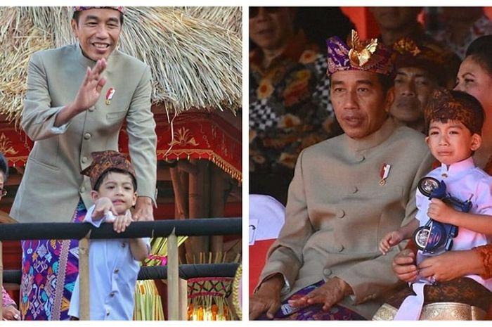 Ikut Jokowi Hadiri Pembukaan Pesta Kesenian Bali 2019, Tingkah Jan Ethes Kembali Bikin Gemas!