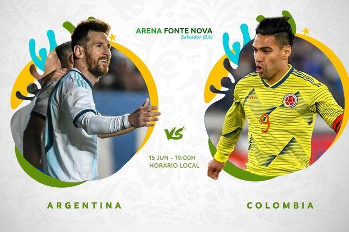 Pertandingan Argentina vs Kolombia pada ajang Copa America 2019.