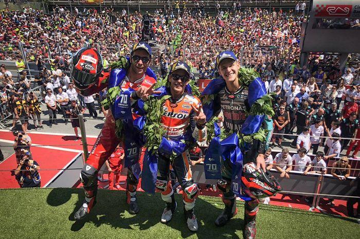 Marc Marquez juara di MotoGP Catalunya, semakin menjauh di klasemen sementara pembalap MotoGP.