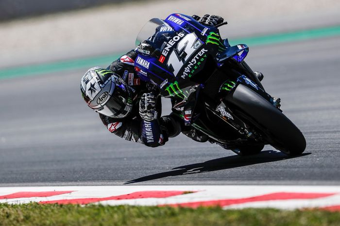 Maverick Vinales (Monster Energy Yamaha) menjadi pembalap dengan catatan waktu tercepat pada sesi tes tengah musim MotoGP 2019 di Sirkuit Catalunya, Senin (17/6/2019)