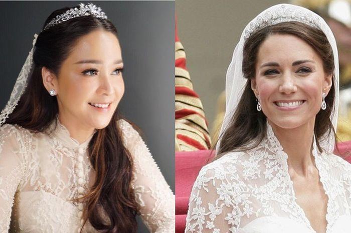 Kemiripan Maia Estianty dan Kate Middleton