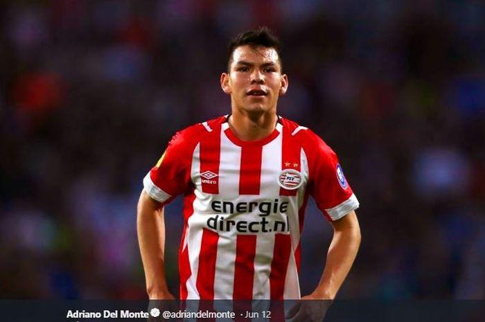 Penyerang timnas Meksiko dan PSV Eindhoven, Hirving Lozano.