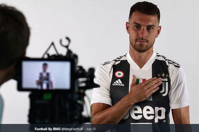 Gelandang anyar Juventus, Aaron Ramsey.