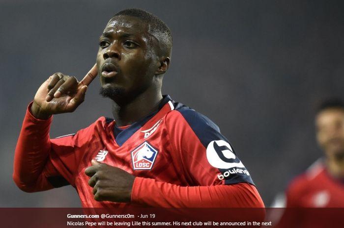 Penyerang muda milik Lille, Nicolas Pepe
