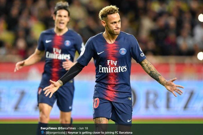 Penyerang sayap Paris Saint-Germain, Neymar Jr
