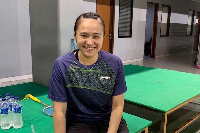 Pebulu tangkis ganda campuran, Melati Daeva Oktavianti, saat ditemui BolaSport.com di Pelatnas PBSI, Cipayung, Jakarta, Senin (24/6/2019)