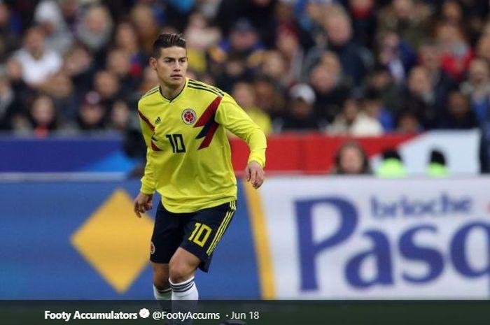 Gelandang Real Madrid dan timnas Kolombia, James Rodriguez.