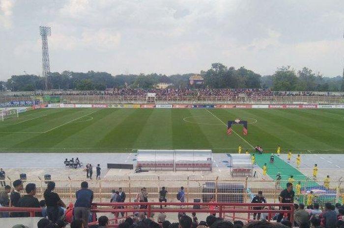 Suasana laga Perseru Badak Lampung vs PSIS Semarang di Stadion Sumpah Pemuda pada pekan keempat Liga 1 2019, Rabu (26/6/2019).