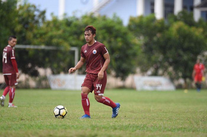Pemain Persija Jakarta, Ammarsyahdi, mendapatkan trial dua pekan di Renova Yamaguchi