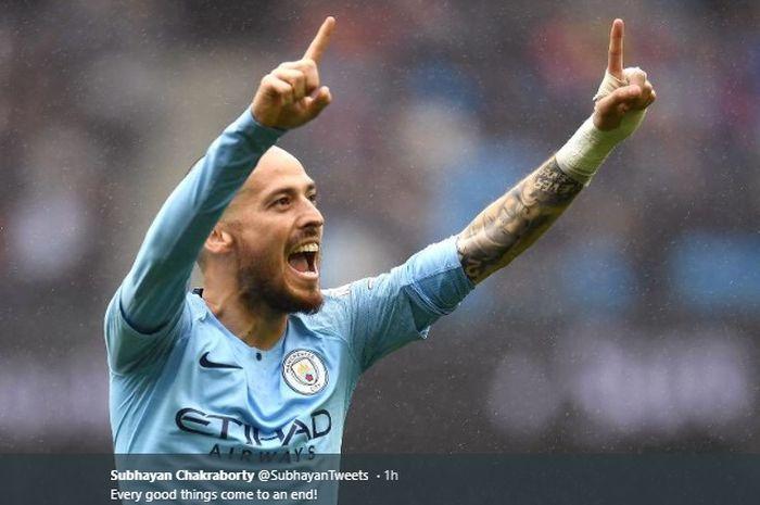 Gelandang serang milik Manchester City asal Spanyol, David Silva