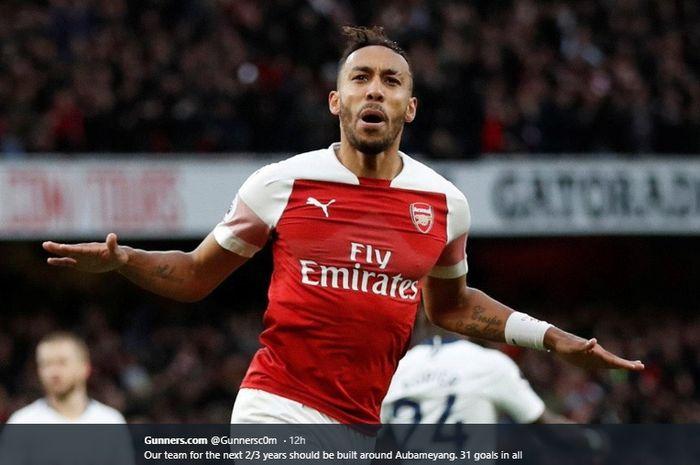 Penyerang Arsenal, Pierre-Emerick Aubameyang