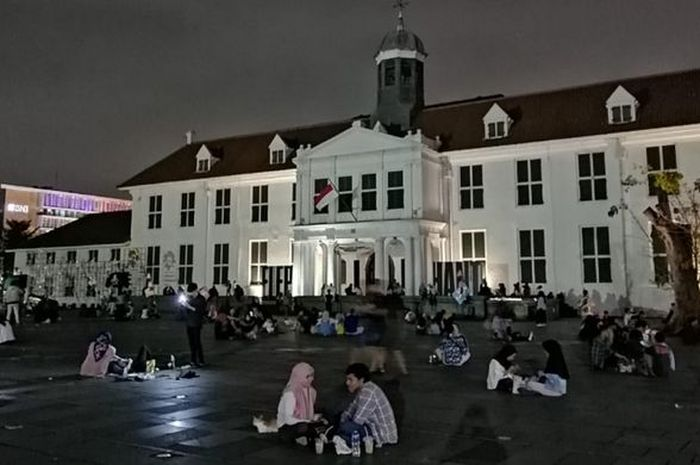 Museum Fatahillah di malam hari