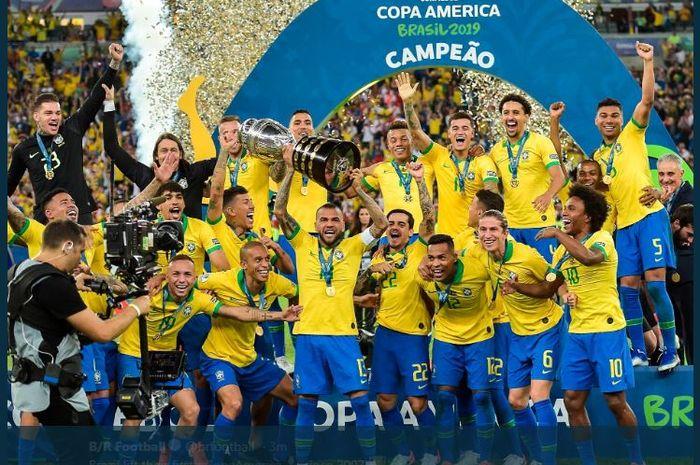 Brasil juara Copa America 2019 usai mengalahkan Peru di final.