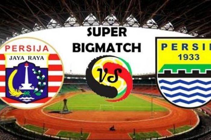 Ilustrasi logo Persija Jakarta Vs Persib Bandung.
