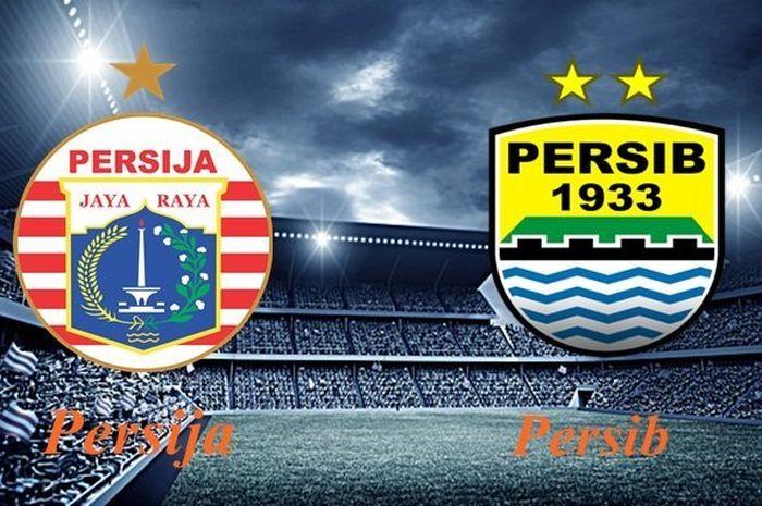 Ilustrasi Persija Jakarta Vs Persib Bandung.