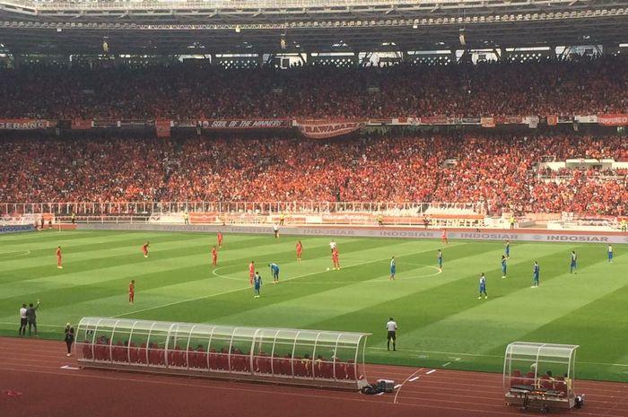 Laga Persija Jakarta Vs Persib Bandung pada pekan kedelapan Liga 1 2019 di Stadion Utama Gelora Bung Karno, Rabu (10/7/2019).