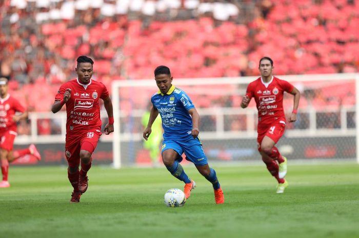 Duel Persija Jakarta Vs Persib Bandung pada pekan kedelapan Liga 1 2019 di Stadion SUGBK, Rabu (10/7/2019).