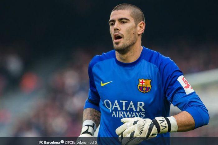 Eks kiper asal Spanyol, Victor Valdes, semasa memperkuat FC Barcelona pada periode 2000-2014.