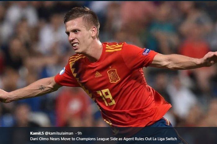 Gelandang serang Spanyol U-21 yang bermain untuk Dinamo Zagreb, Dani Olmo.