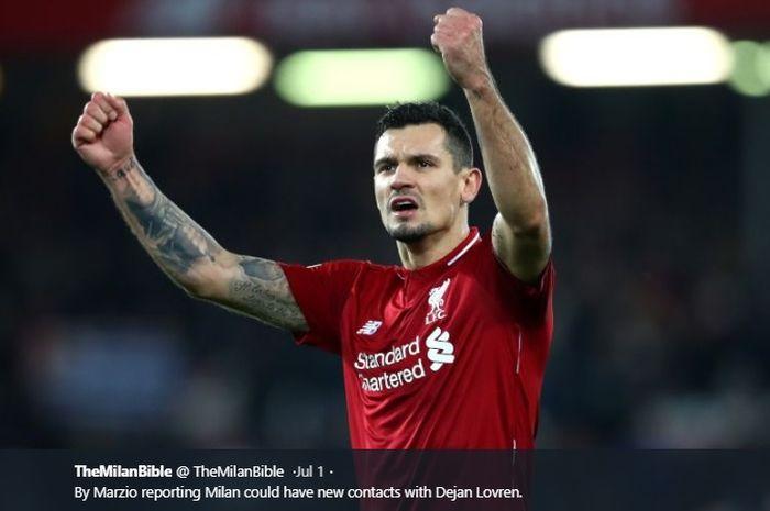 Bek tengah Liverpool, Dejan Lovren.