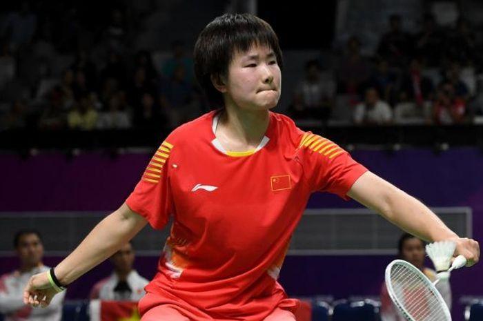 Pebulu tangkis tunggal putri China, He Bingjiao.