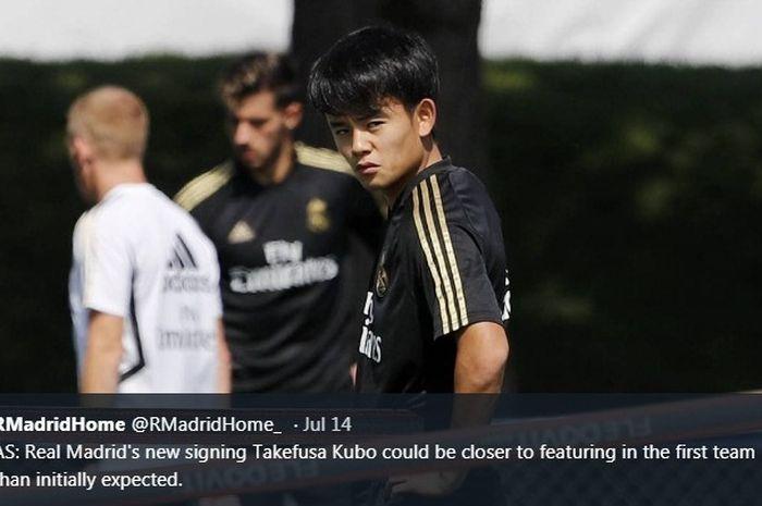Pemain baru Real Madrid, Takefusa Kubo.