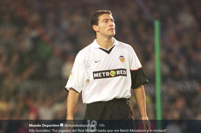 Legenda Valencia, Kily Gonzalez, pernah menolak tawaran Real Madrid karena alasan tidak biasa.