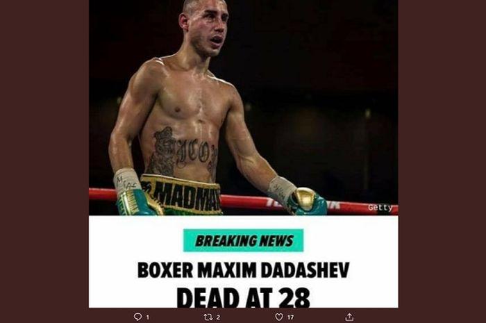 Petinju Rusia, Maxim Dadashev meninggal usai mengalami trauma dan pendarahan otak saat bertanding.