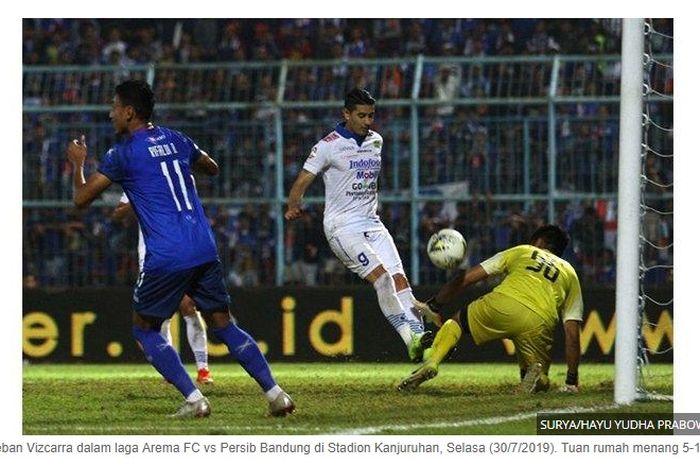 Persib vs Arema di Malang