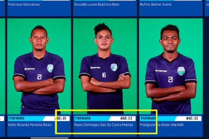 Striker Timor Leste, Gali Freitas yang diduga mencuri umur demi tampil di Piala AFF U-15 2019.
