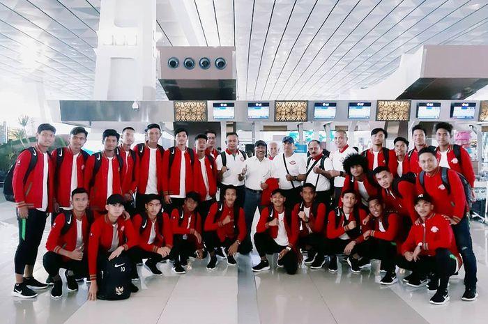 Timnas U-18 Indonesia berangkat ke Vietnam untuk gelaran Piala AFF U-18 2019