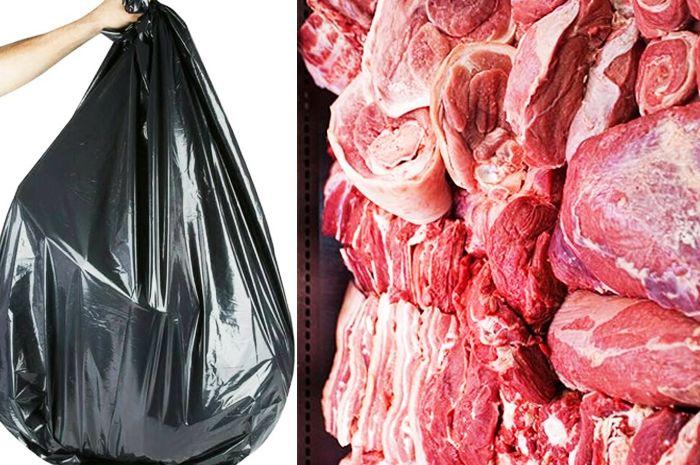 Dilarang Keras Menggunakan Kresek Hitam Untuk Membungkus Daging