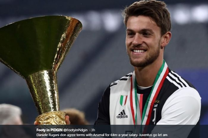 Bek tengah Juventus, Daniele Rugani, tengah menjadi incaran Arsenal pada bursa transfer musim panas.