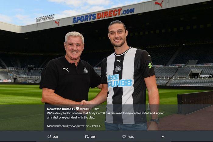 Mantan penyerang Newcastle United, Andy Carroll