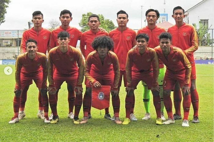 Timnas U-18 Indonesia di Piala AFF U-18 2019 Vietnam.