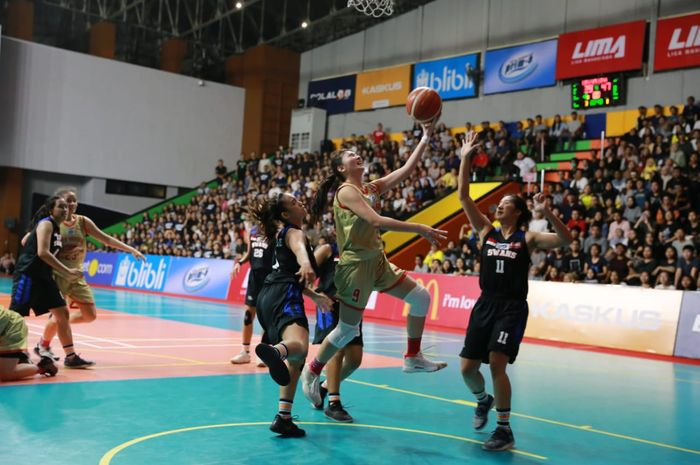 Laga LIMA Basket Nationals 2019 antara Tim putri Universitas Pelita Harapan kontra Universitas Esa Unggul, Senin (12/8/2019).