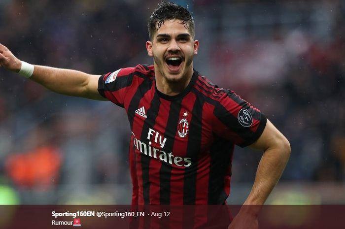 Striker AC Milan, Andre Silva, yang dikabarkan bakal segera dilepas pada bursa transfer musim panas ini.