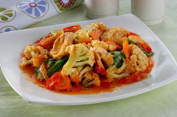 Resep Sayur Kembang Kol Asam Pedas Enak, Hidangan Pelengkap yang ...