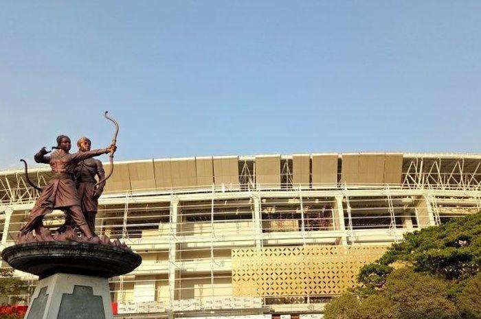 Tampilan Stadion Manahan, Solo, yang saat ini sedang dalam tahap renovasi, pada 16 Agustus 2019.