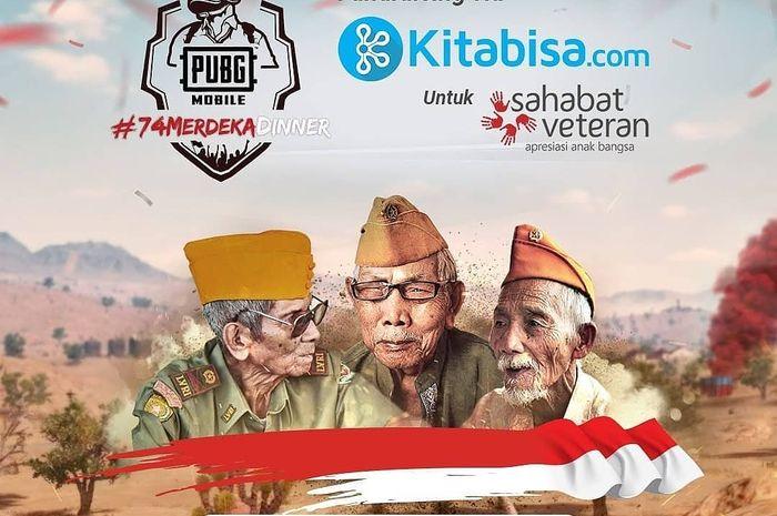 Merayakan hari kemerdekaan Indonesia ke-74, PUBG Mobile mengadakan program berbagi ke para Veteran