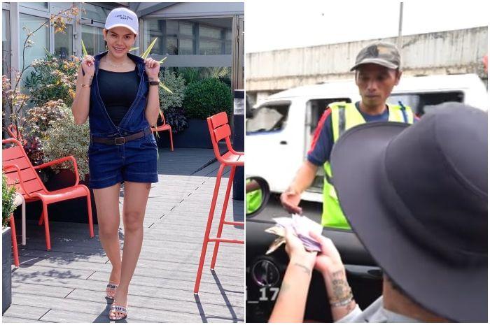 Disodori Nikita Mirzani Berlembar-lembar Uang, Tukang Parkir Beruntung Ini Hanya Ambil Rp 30 Ribu.