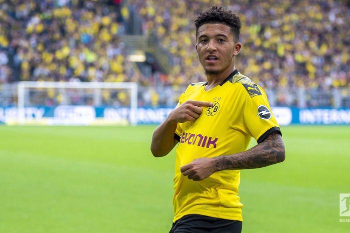 Jadon Sancho, membawa Borussia Dortmund menang 5-1 atas Augsburg pada pekan pertama Bundesliga, Sabtu (17/8/2019) di Signal Iduna Park.