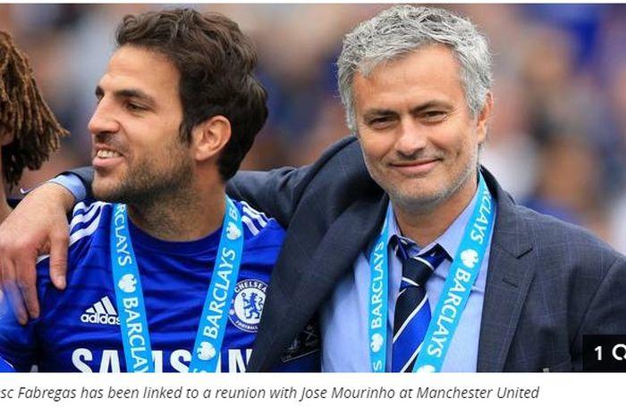 Cesc Fabregas dan Jose Mourinho ketika masih bekerjasama di Chelsea