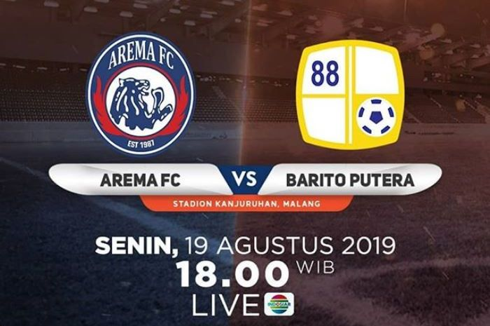 Arema FC vs Barito Putera